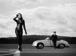porsche_356_speedster_and_girl_wallpaper_g002