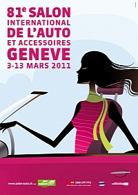 2011 geneva auto show poster