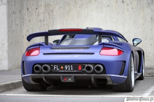 2011 Porsche Carerra GT Gemballa Mirage GT Matte Blue 1024x768 Rear view