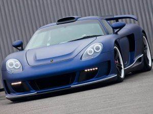 2011 Porsche Carerra GT Gemballa Mirage GT Matte Blue 1024x768 Front view