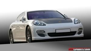 2011 White Porsche Panamera Turbo DMC tuning Front view
