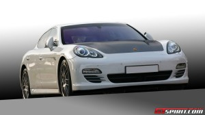 2011 White Porsche Panamera Turbo DMC tuning Front view