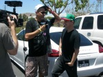 Fuel tvs Renee interviews Rob Dyrdek at his car Porsche Panamera Turbo