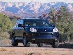 Dark blue metalic Porsche Cayenne S 2004 1600x1200 wallpaper