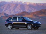 Dark blue metalic metalic Porsche Cayenne S 2004 1600x1200 wallpaper