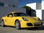 Yellow Porsche Cayman S 2009 1600x1200 wallpaper