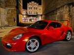 Red Porsche Cayman S 2009 1600x1200 wallpaper