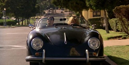Tom Cruise and Porsche 356 Speedster in Top Gun