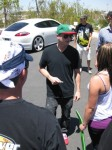 Rob Dyrdek stops for a fan