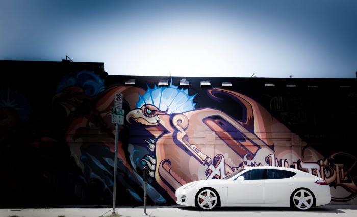 Rob Dyrdek's car - white Porsche Panamera Turbo