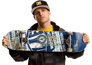 Rob Dyrdek with skateboard