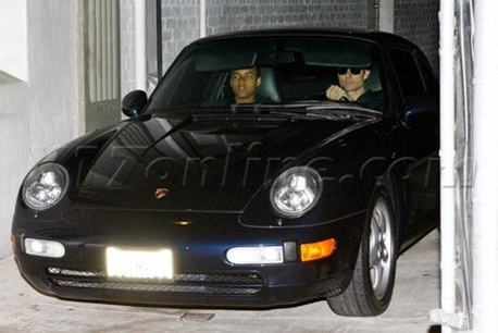 Tom Cruise and son Connor in Porsche 911